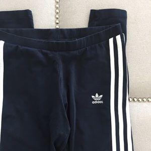Navy Adidas Three Stripe Leggings